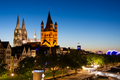 Great Saint Martin Church and Cologne Cathedral at night - PhotoDune Item for Sale