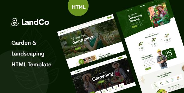 LandCo – Garden & Landscaping HTML5 Template