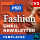 5 Fashion Email Newsletter PSD Templates v2 - GraphicRiver Item for Sale