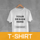 White T-Shirt on Hanger with Concrete Background Mockups - GraphicRiver Item for Sale