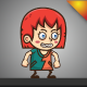 Happy Sally Sprites - 2D Game Asset - GraphicRiver Item for Sale