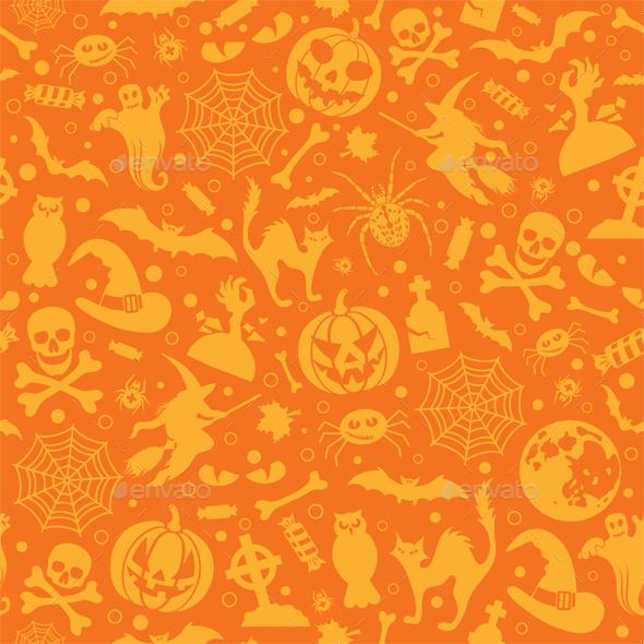 Seamless Halloween Pattern