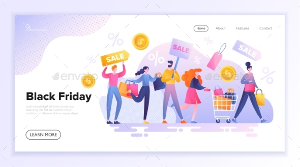 Black Friday Shopping and Sale Concept