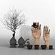 Decorative set of skultina - 3DOcean Item for Sale
