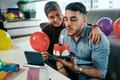Couple Celebrating Birthday Party on Zoom - PhotoDune Item for Sale