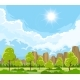 Summer Landscape with Trees - GraphicRiver Item for Sale