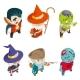 Children Masquerade Party Halloween Costumer - GraphicRiver Item for Sale