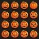 Flat Design Halloween Pumpkin Decoration - GraphicRiver Item for Sale