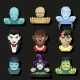 Halloween Party Role Characters Avatar Icons - GraphicRiver Item for Sale