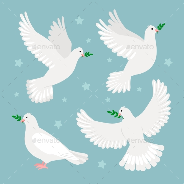 Doves with Olive Branch