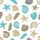 Sea Seamless Pattern with Seashells - GraphicRiver Item for Sale