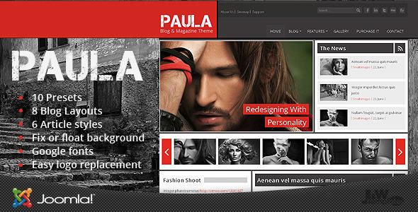 Paula - Blog & Magazine Joomla Theme
