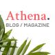 Athena - Minimal Blog/Magazine HTML Template - ThemeForest Item for Sale