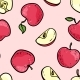 Seamless Pattern with Cute Doodle Red and Pink - GraphicRiver Item for Sale