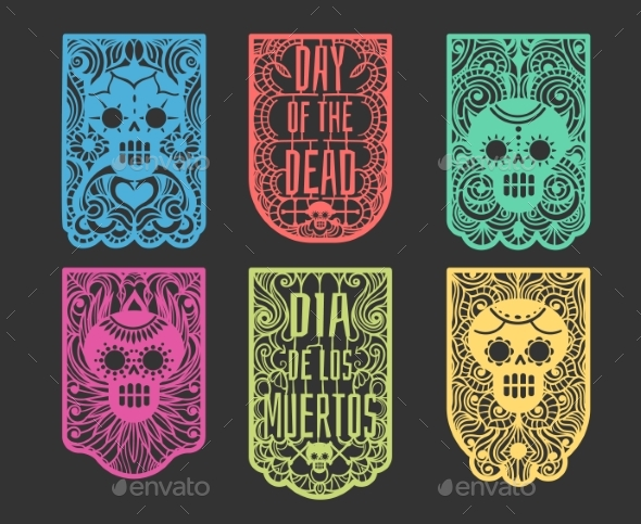 Day of the Dead Paper Flags