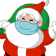 Santa with Medical Mask and Gift Sack - GraphicRiver Item for Sale