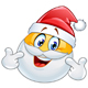 Pointing at Himself Santa Emoticon - GraphicRiver Item for Sale