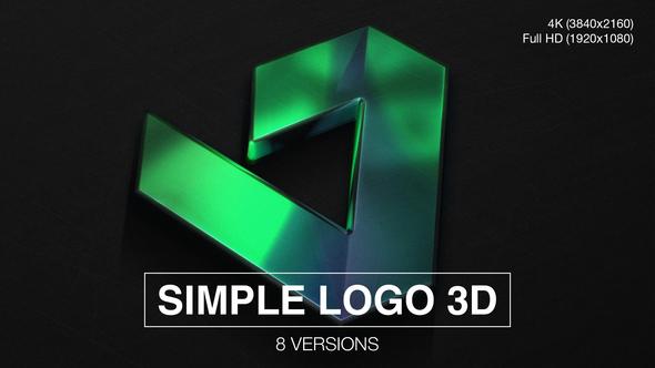 Simple Logo 3D (8-Pack)
