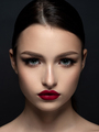 Portrait of young beautiful woman with red lips - PhotoDune Item for Sale