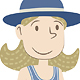 Little Girl with Hat - GraphicRiver Item for Sale