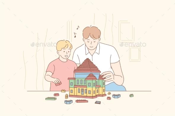 Childhood Fatherhood Game Concept