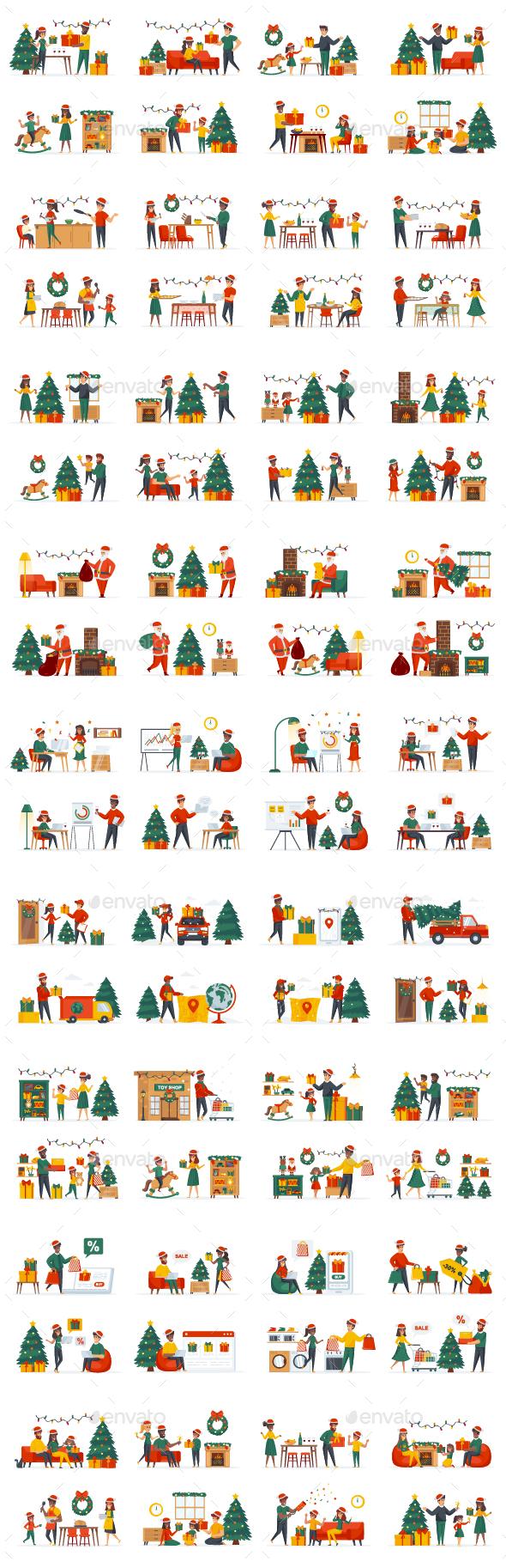 Christmas People Character Scene Creator Kit