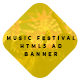 Music Festival HTML5 Ad Banner - CodeCanyon Item for Sale