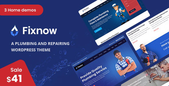 Fixnow - A Perfect Plumbing WordPress Theme