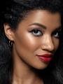 Young beautiful black woman with evening makeup - PhotoDune Item for Sale