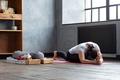 woman practicing yoga, doing Splits Exercise, Hanumanasana, Monkey God Pose - PhotoDune Item for Sale