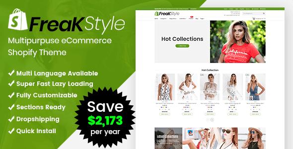 Freak - Fashion Shopify Theme Multipurpose Responsive Template