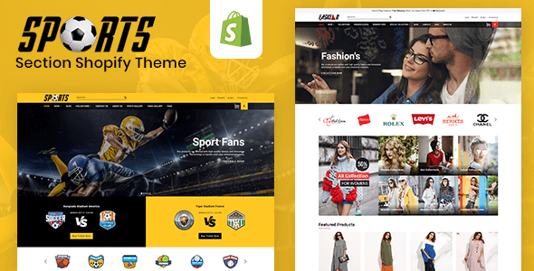 Sports - Multipurpose Responsive Drag & Drop Shopify Theme (Sections Ready)