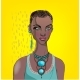 Portrait of a Woman with Necklace - GraphicRiver Item for Sale