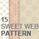 15 Clean Sweet Web Patterns - GraphicRiver Item for Sale