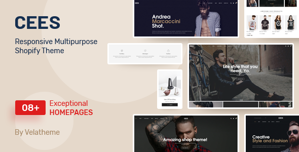 Download Cees – Responsive Multipurpose Shopify Theme Nulled