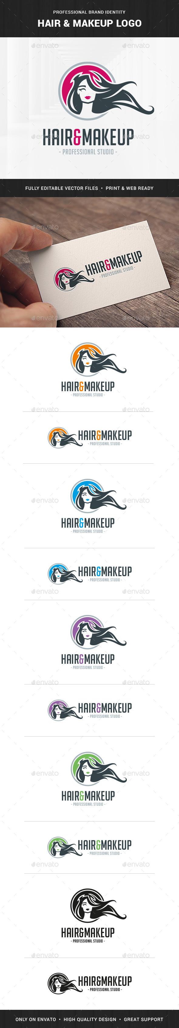 Hair & MakeUp Logo Template