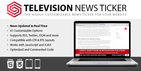 Television News Ticker
