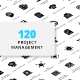 Project Management Glyph Icons - GraphicRiver Item for Sale