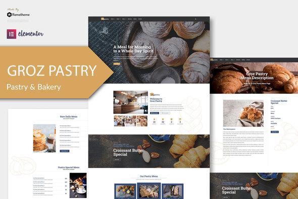 GrozPastry - Bakery Elementor Template Kit