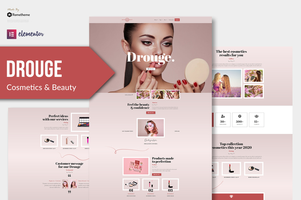 Drouge - Cosmetic Elementor Template Kit