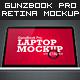 GunzBook Pro Retina Laptop Mockup - GraphicRiver Item for Sale