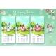 2021 Calendar. Set of Spring Month. March, April - GraphicRiver Item for Sale