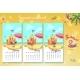 2021 Calendar. Set of Ssummer Month. June, July - GraphicRiver Item for Sale