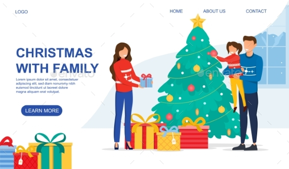Christmas with Family Concept