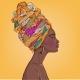 Portrait of Beautiful Black Woman - GraphicRiver Item for Sale