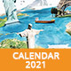 Wall Calendar 2021 - GraphicRiver Item for Sale