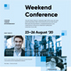 Weekend Conference Poster Template - GraphicRiver Item for Sale