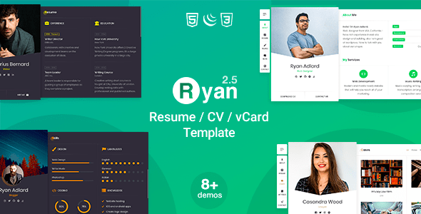 Download Ryan – CV Resume Template Nulled