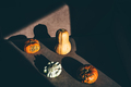 Pumpkin with hard shadows on background. - PhotoDune Item for Sale