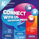 Follow Us on Social Media Flyer Templates - GraphicRiver Item for Sale